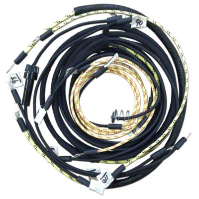 hight resolution of restoration quality wiring harness jds3572jds812 wiring harness kit for tractors using 3 or 4 terminal voltage