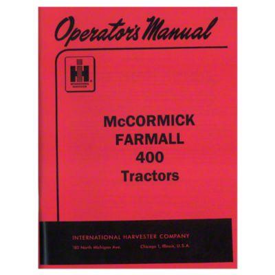 hight resolution of operators manual farmall 400