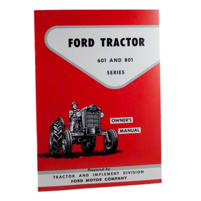 medium resolution of operator manual reprint ford 601 801 series