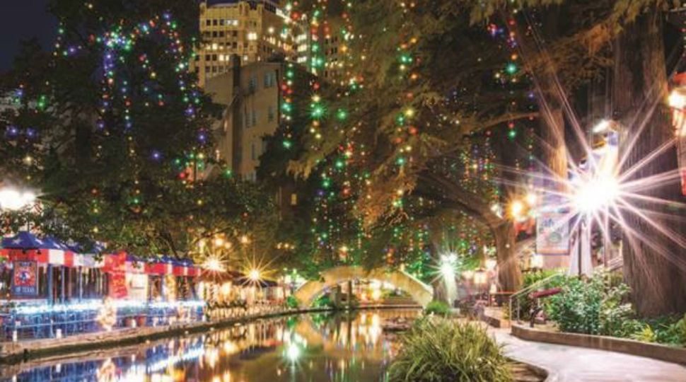celebrate the holidays along the river walk