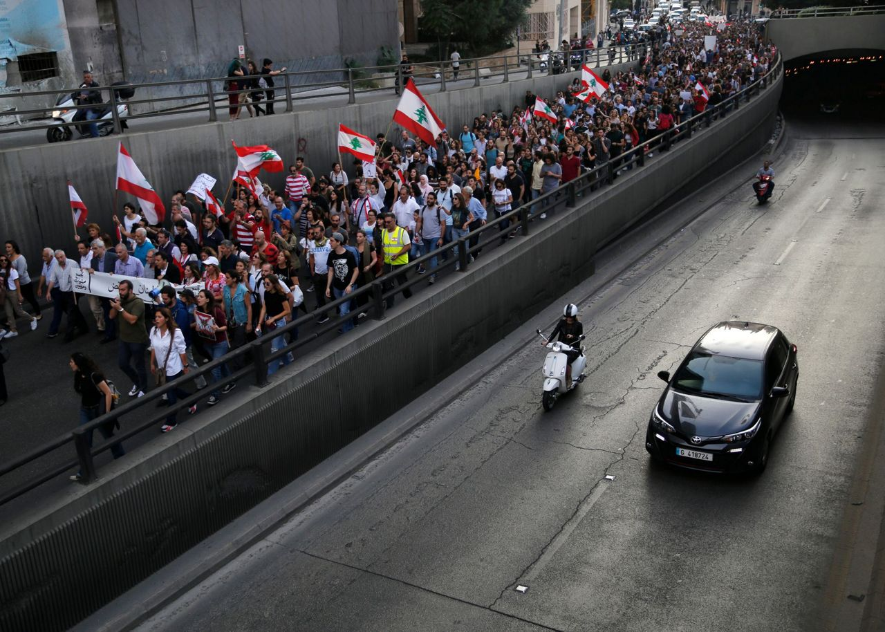 Lebanon's banks reopen after 2-week closure due to protests