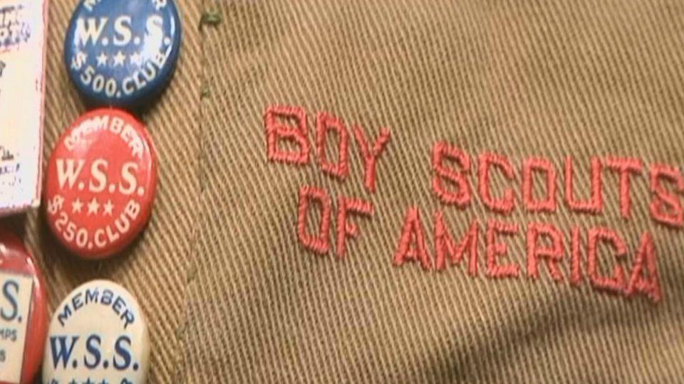 boy scouts camp boy