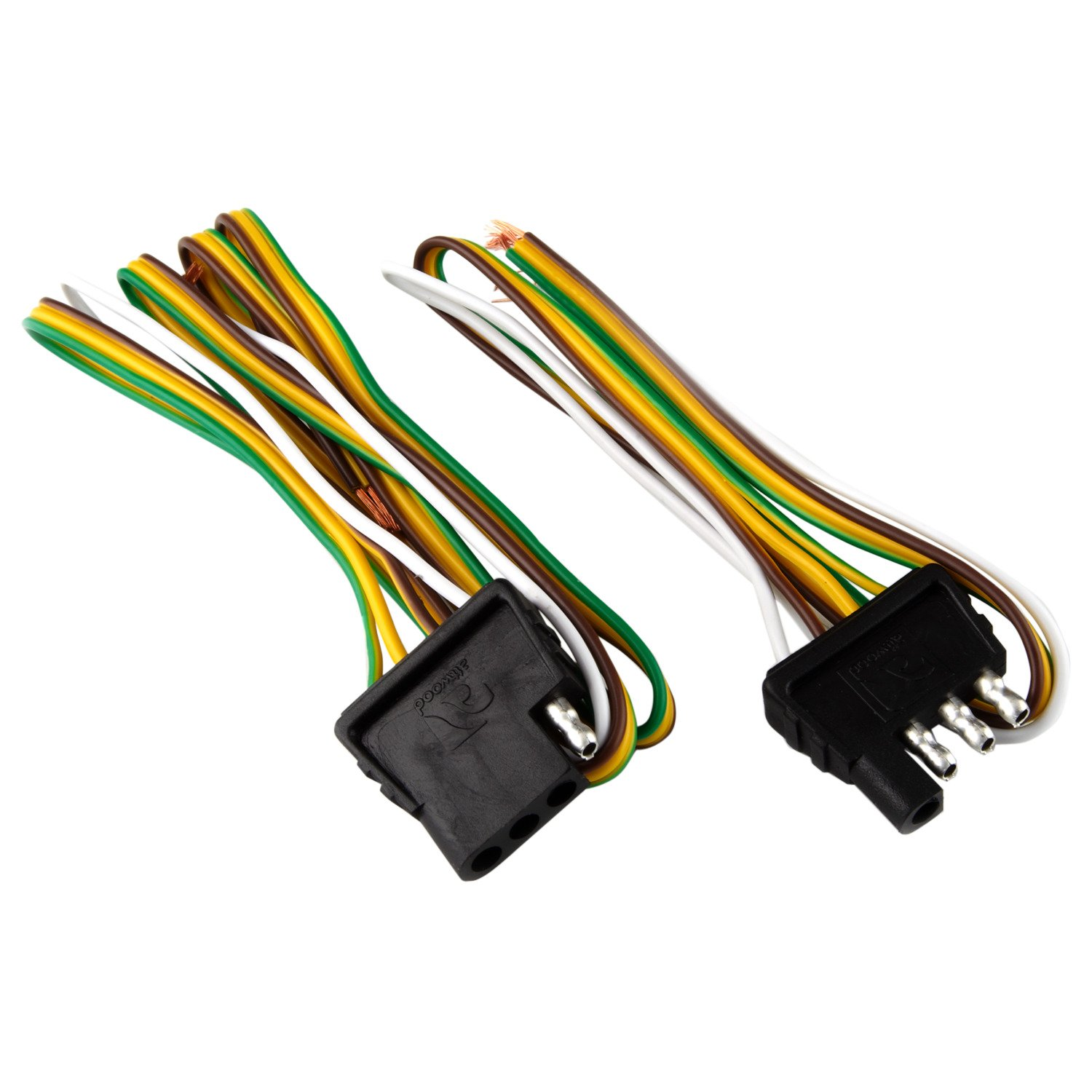 attwood 4 way flat wiring harness kit for vehicles and trailers 4 way flat connector for ford 4 way wiring harness [ 1500 x 1500 Pixel ]