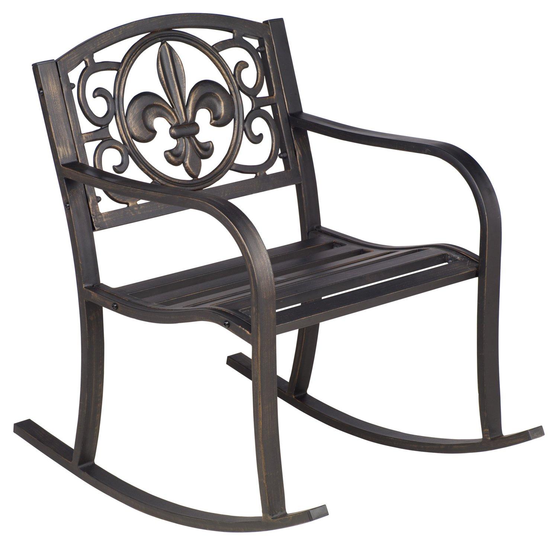 academy sports patio chairs brushed metal dining furniture fleur de lis rocker