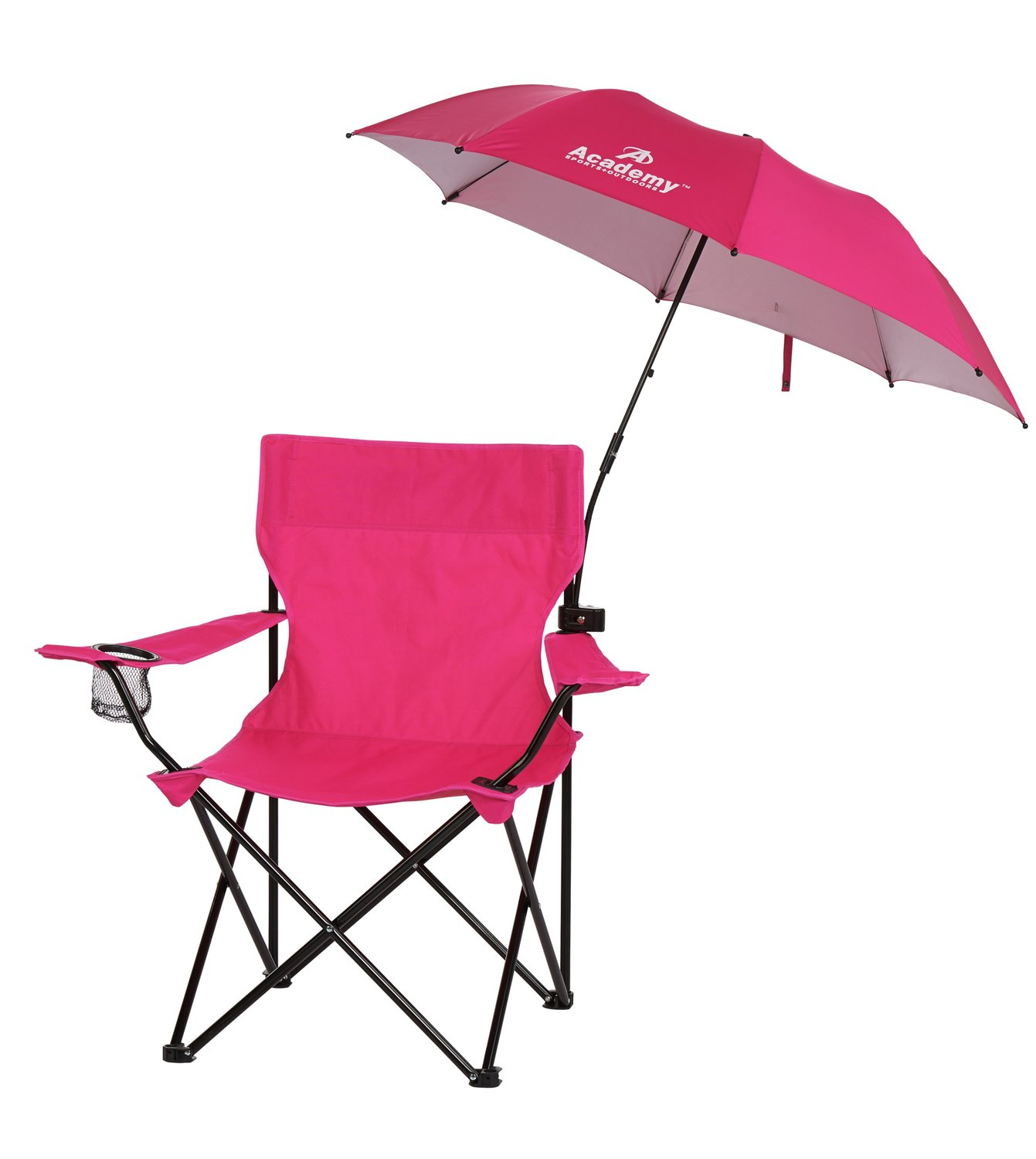 folding chair with umbrella wood desk academy sports outdoors 3 4 ft clamp on