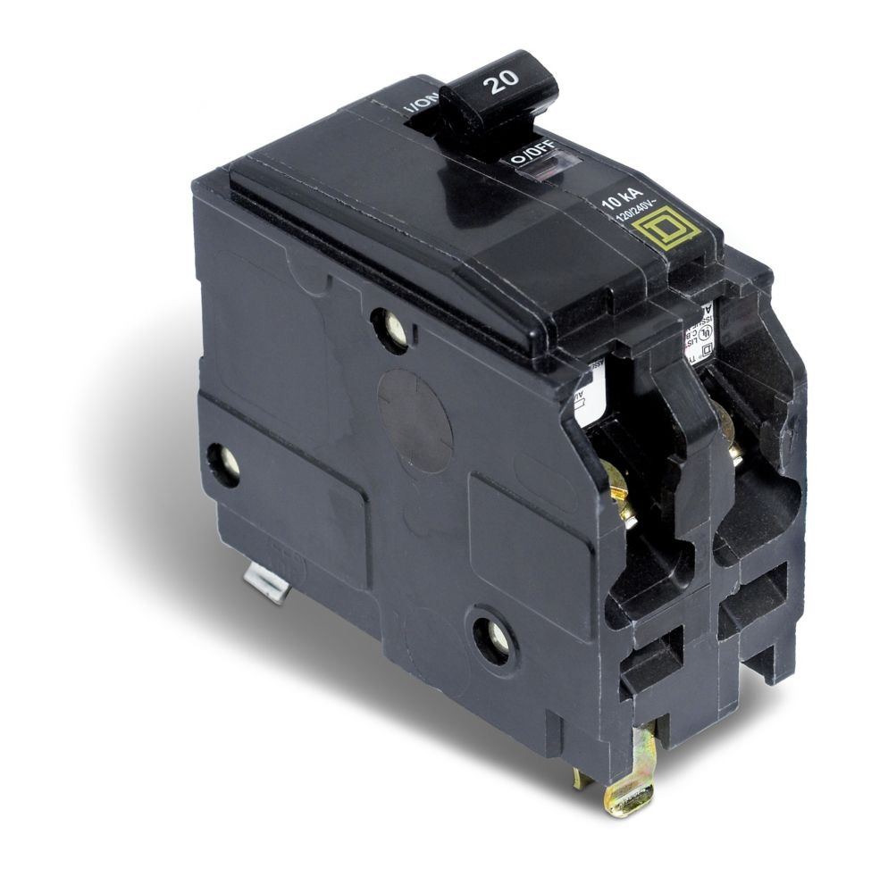small resolution of schneider electric square d double pole 20 qo circuit breakers provide
