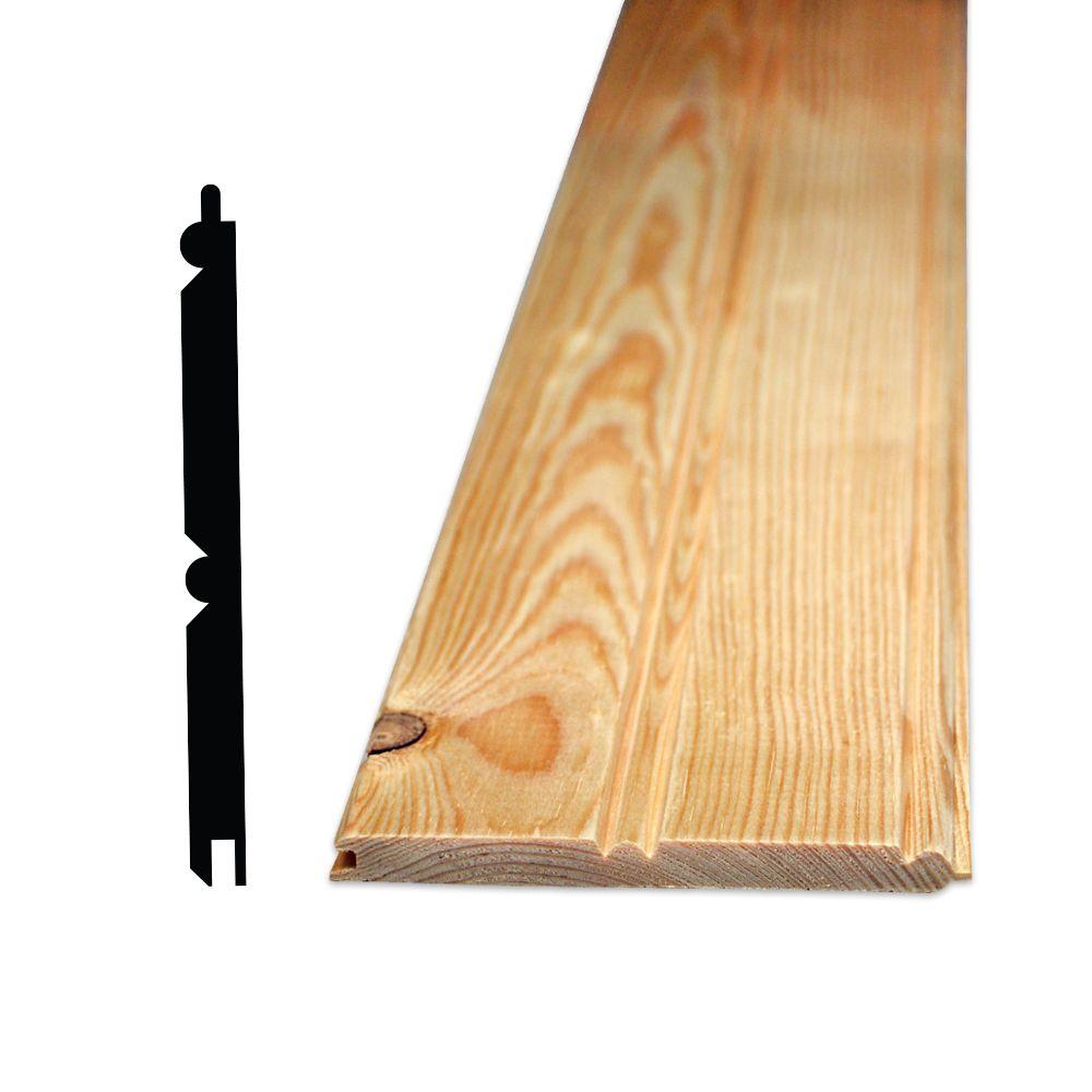 lambris pin noueux 8 pi cannele cote et centre 5 16