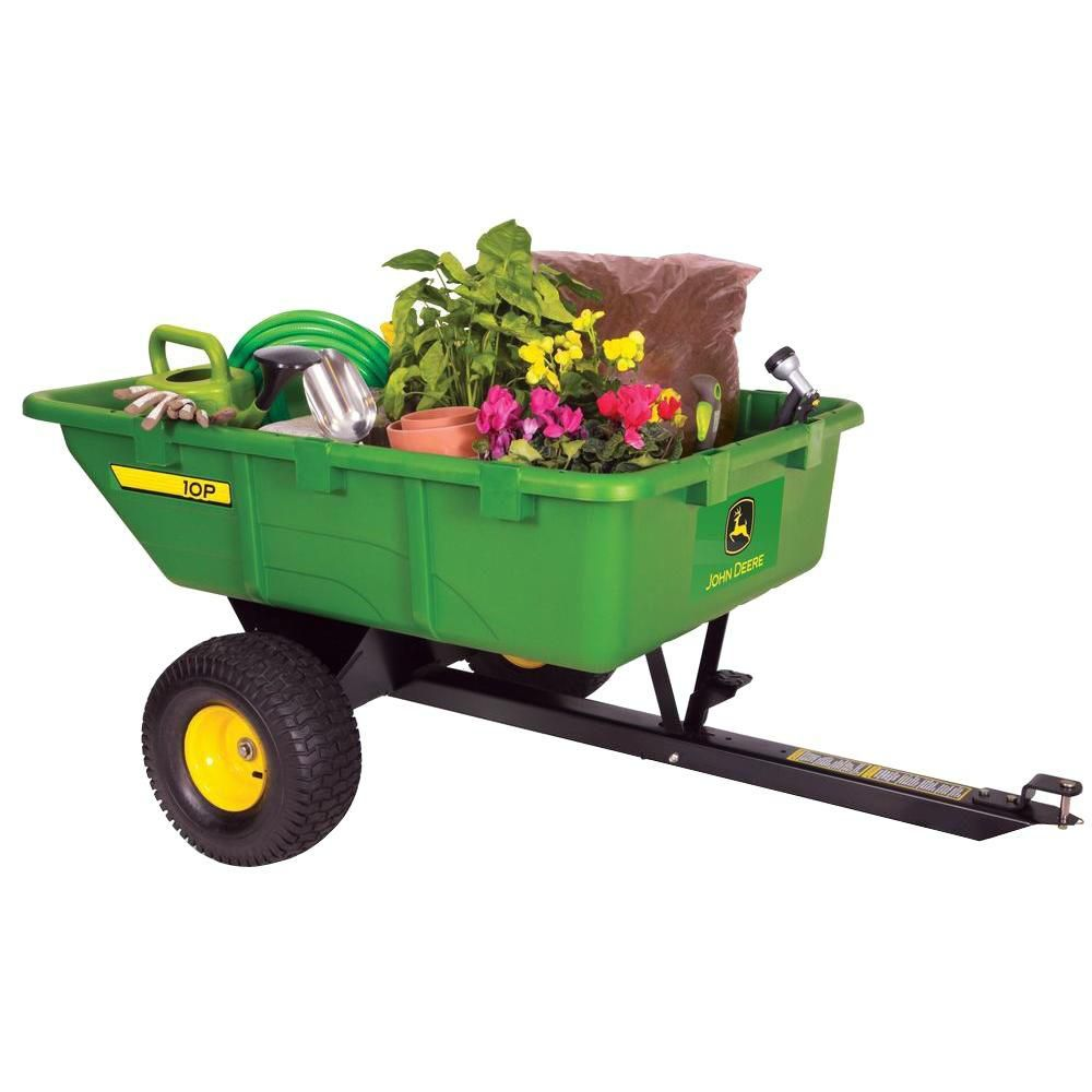 John Deere 650 Lb. 10 Cu. Ft. Tow- Poly Utility Cart Home Depot Canada