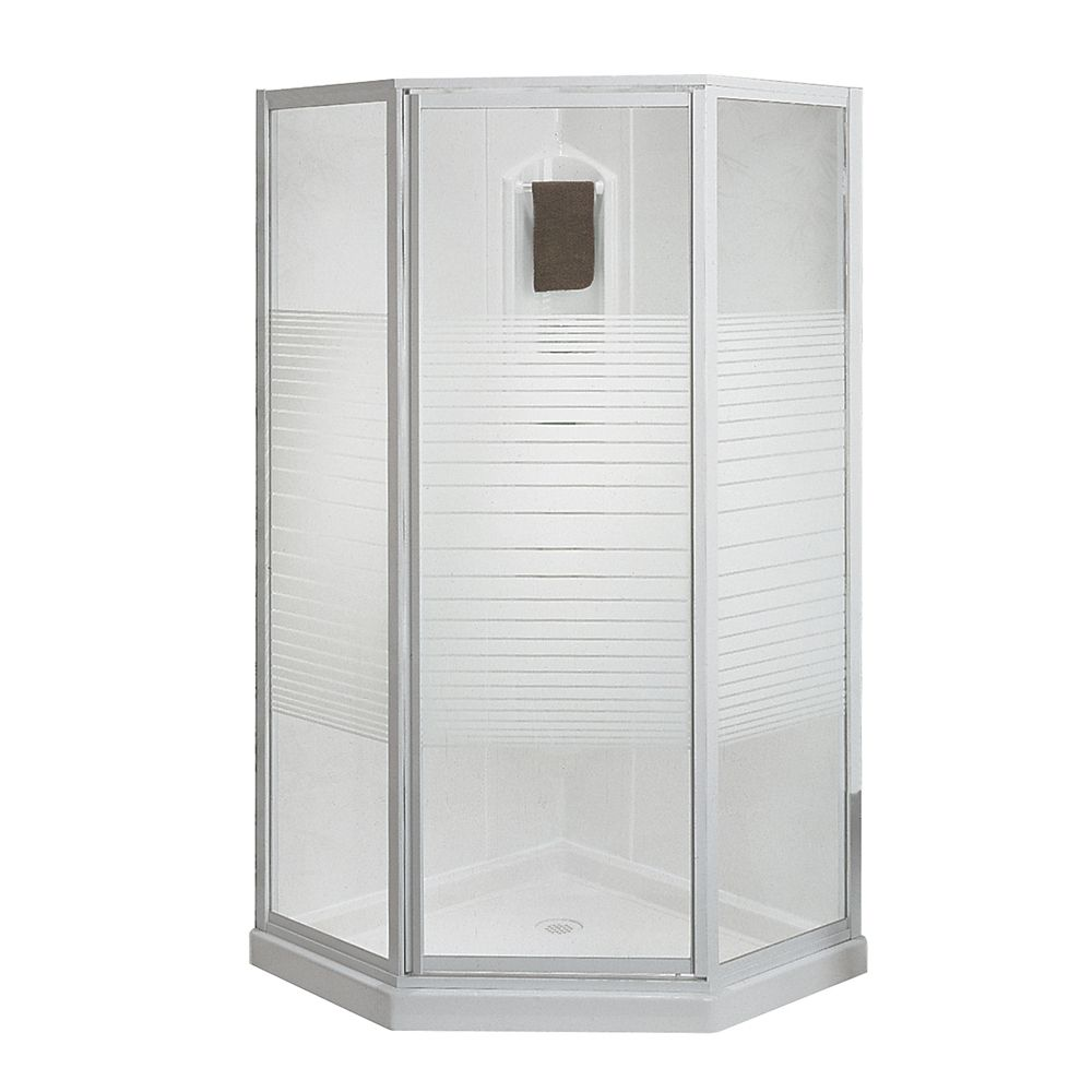 MAAX Cosmos 38Inch 3Piece Shower Stall  The Home Depot