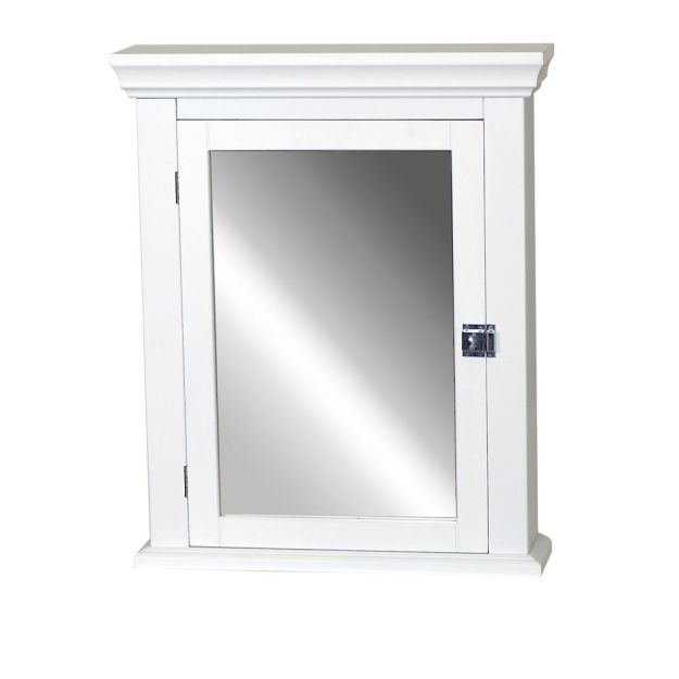 zenith products early american 22-inch medicine cabinet in white