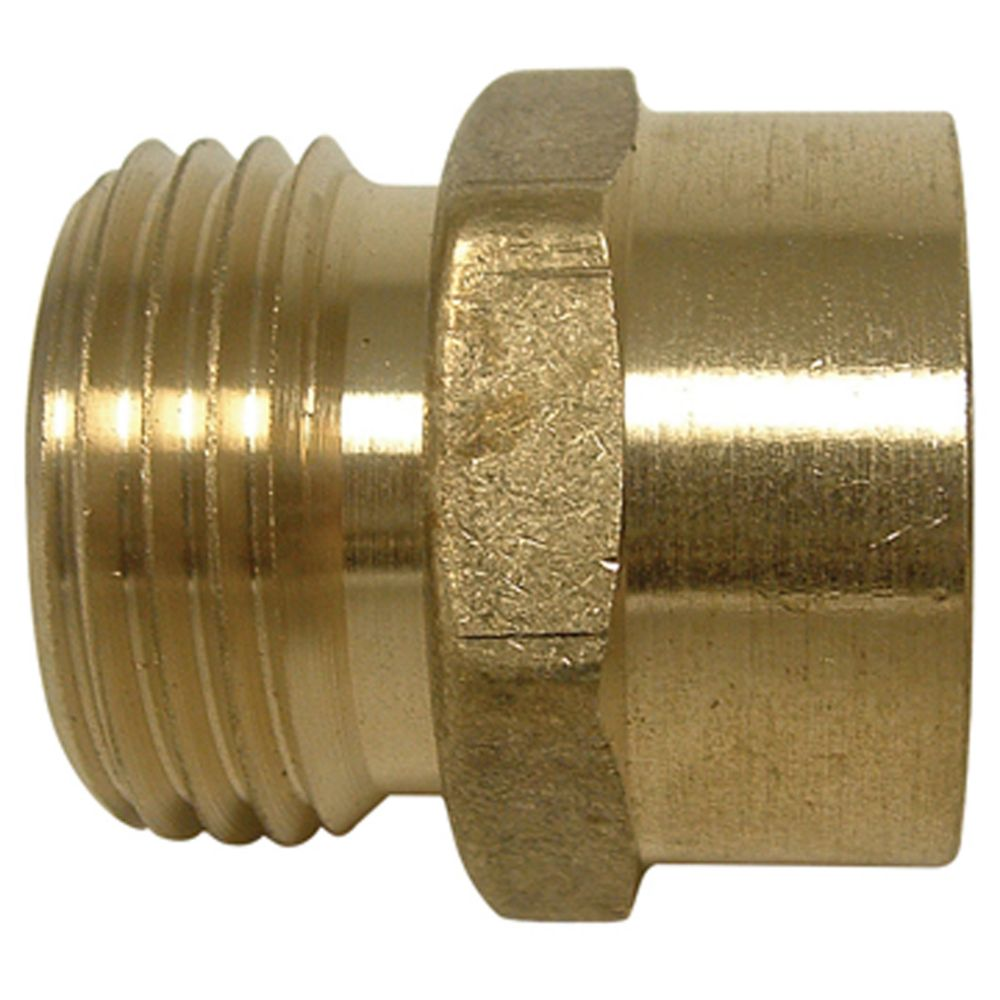 Watts Brass Male Hose to Female Pipe Adaptor (3/4 x 1/2