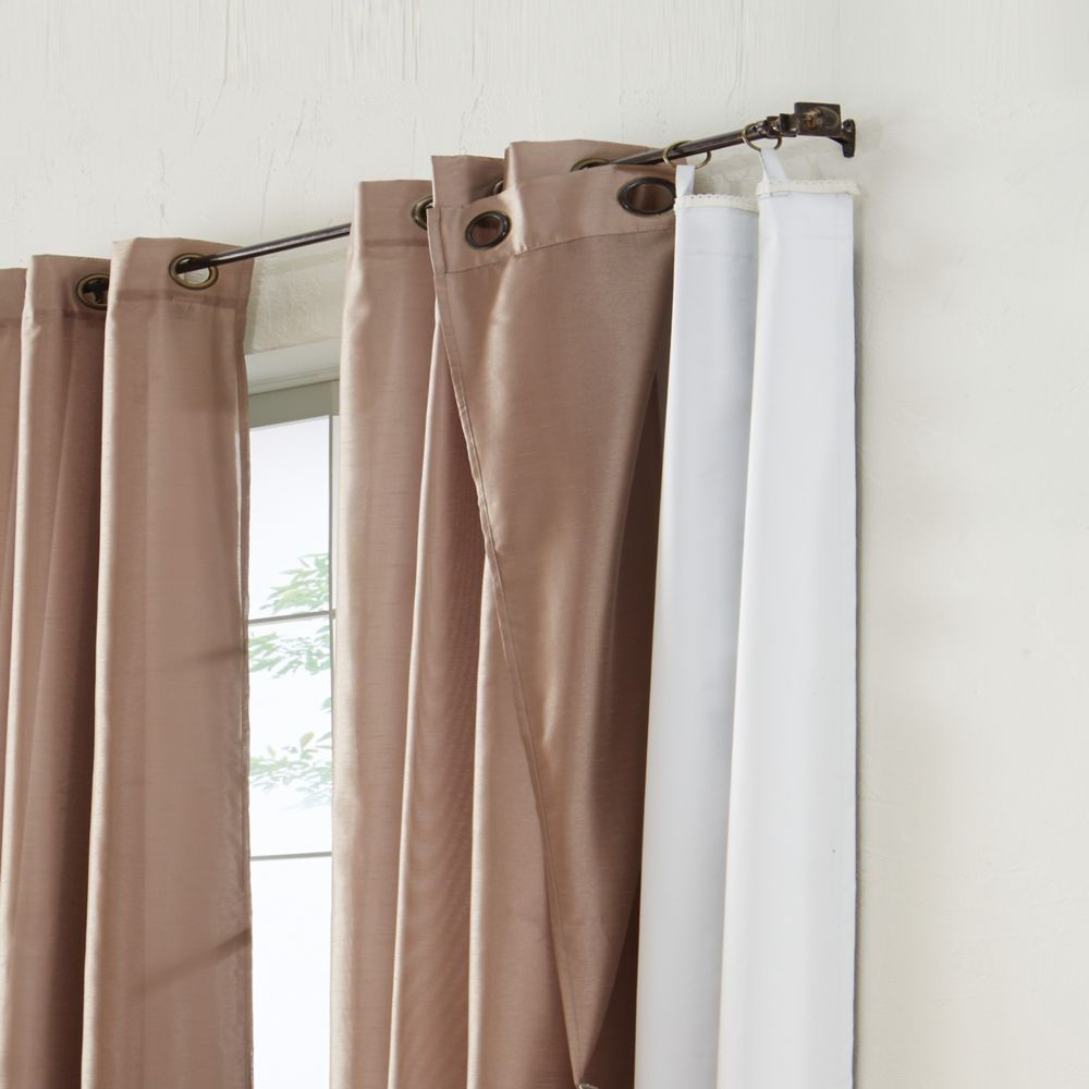 Blackout Curtain Liner LineATab 45X77 Inches White 4098