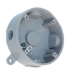 weatherproof round pvc junction box grey photo of product [ 1000 x 1000 Pixel ]