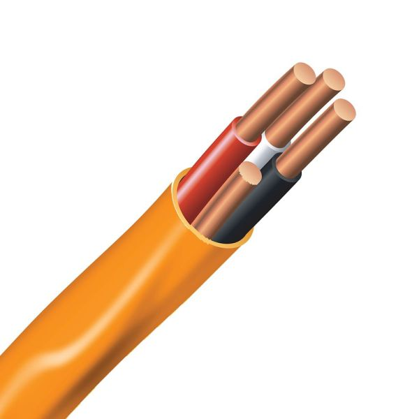 Southwire Electrical Cable Copper Wire Gauge 10 3 - Romex Simpull Nmd90 Orange