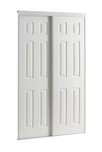Veranda 48-inch White Framed 6-Panel Sliding Door | The ...