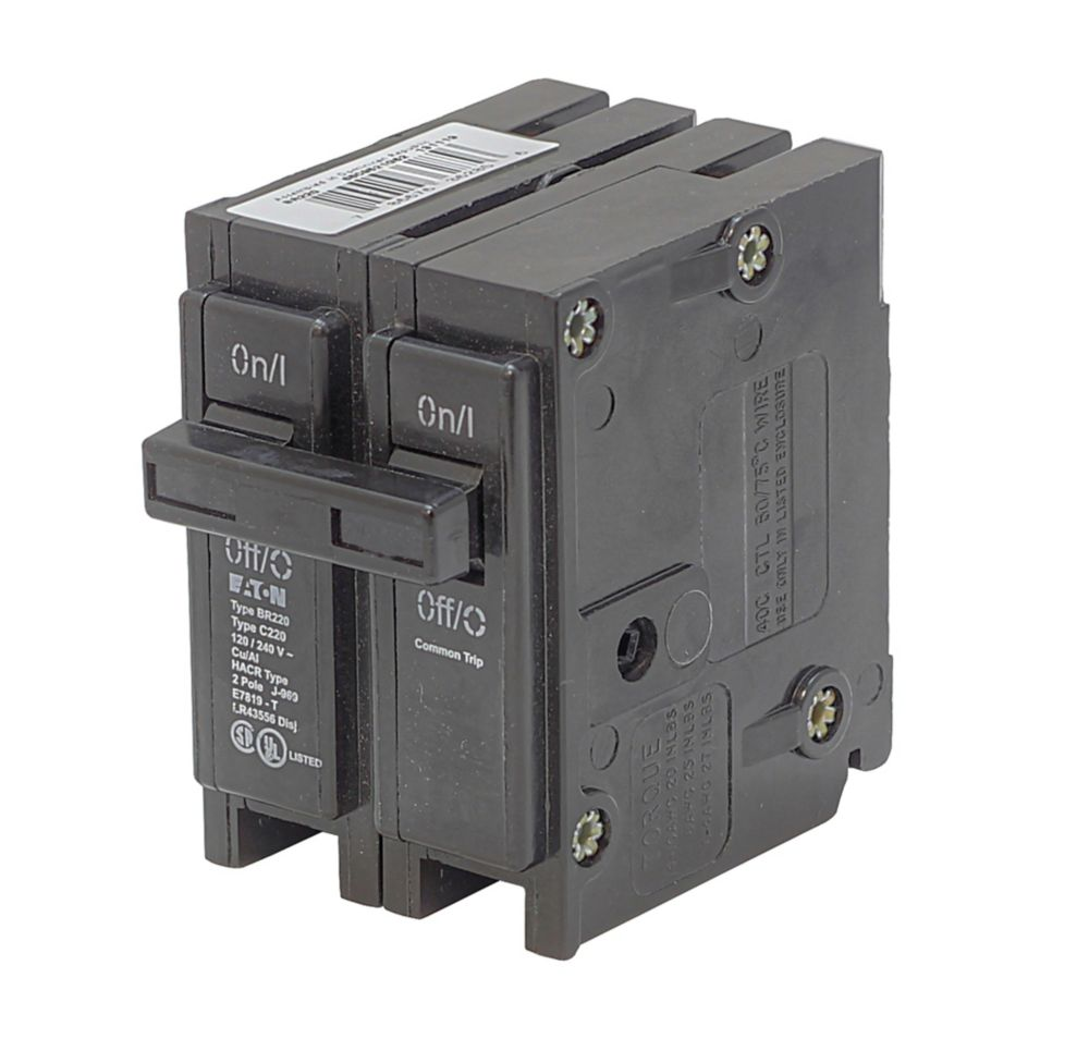 medium resolution of eaton plug in replacement br breaker 2p 100a