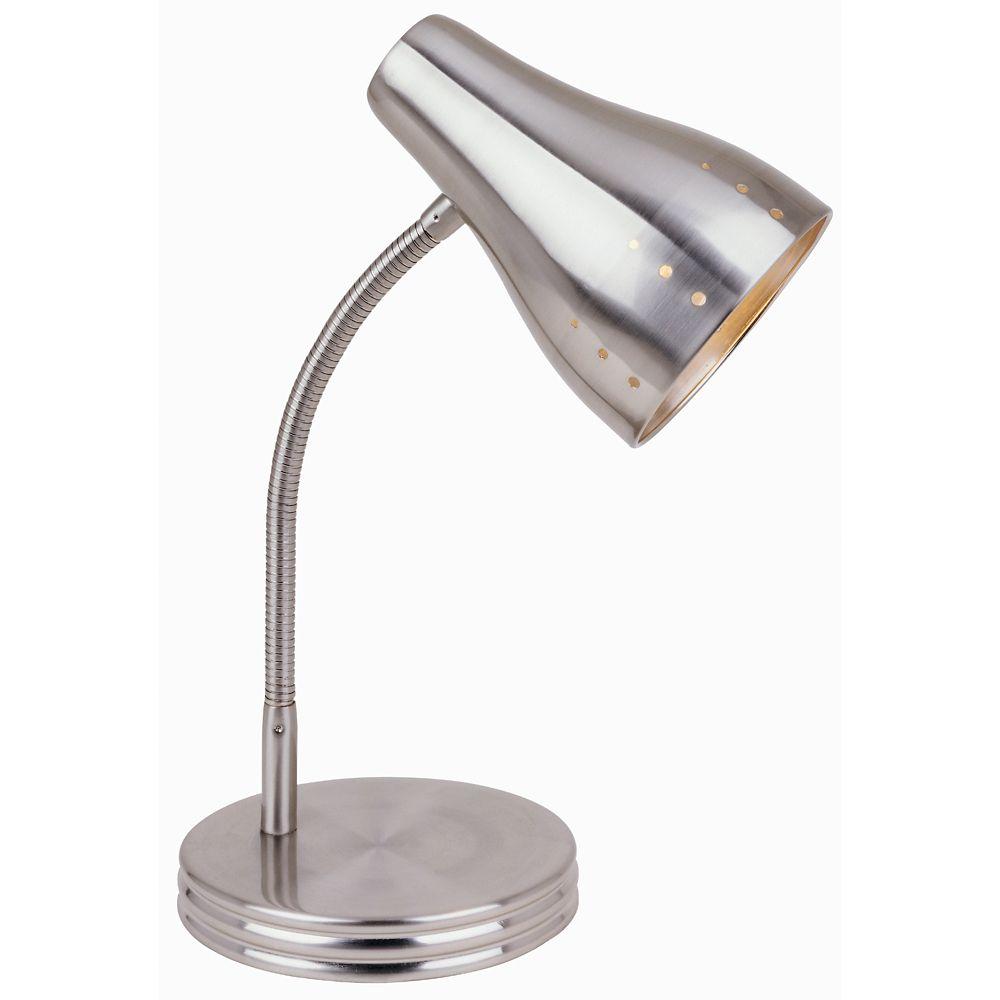 Hampton Bay 1Light Touch Desk Lamp in Satin Chrome  The