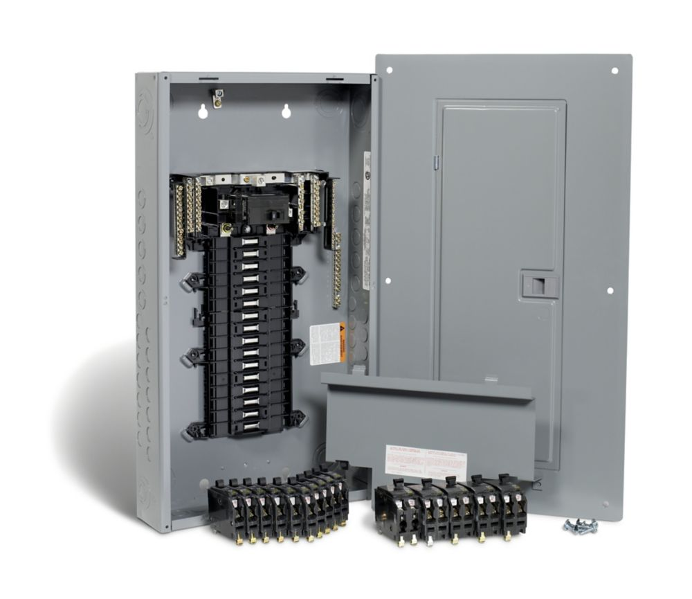small resolution of square d 100 amp 32 spaces 54 circuits maximum qwikpak panel package with breakers