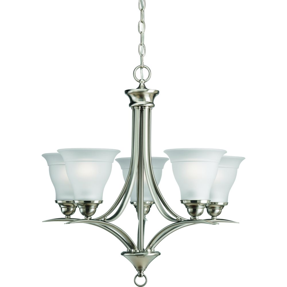 trinity collection brushed nickel 5 light chandelier