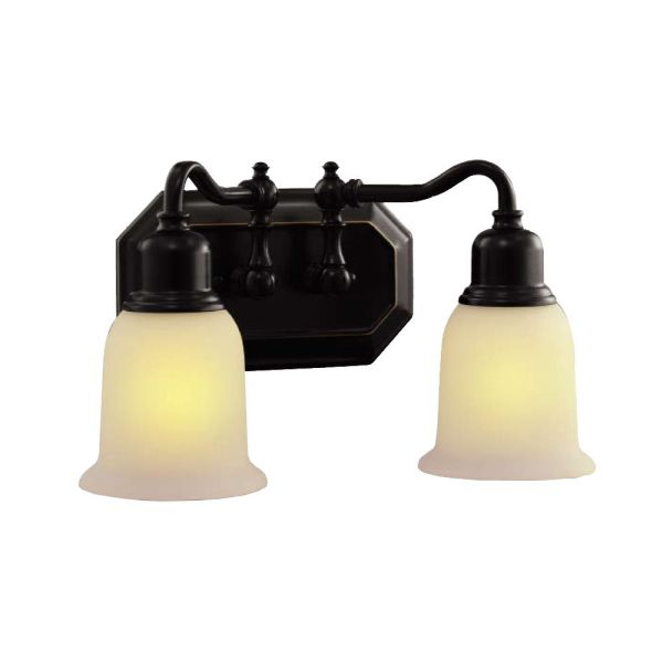 Hampton Bay 2-light Bathroom Vanity Wall Light Fixture In