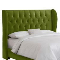Skyline Furniture Queen Tufted Wingback Headboard in