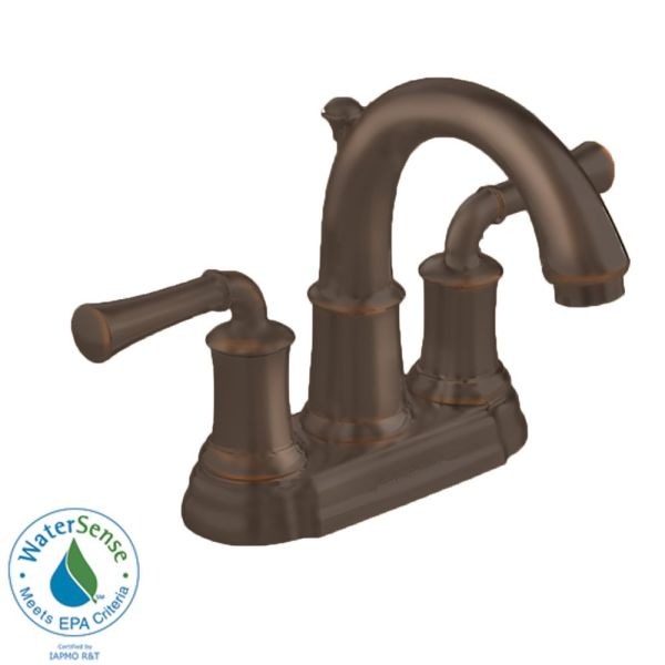 4 inch oil rubbed bronze bathroom faucets American Standard Portsmouth 4-inch 2-Handle High-Arc Bathroom Faucet with Speed Connect Drain