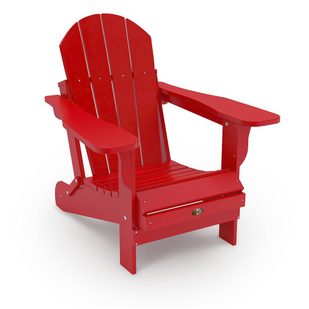 Home  Leisure Leisure Line Adirondack Chair  Red  The