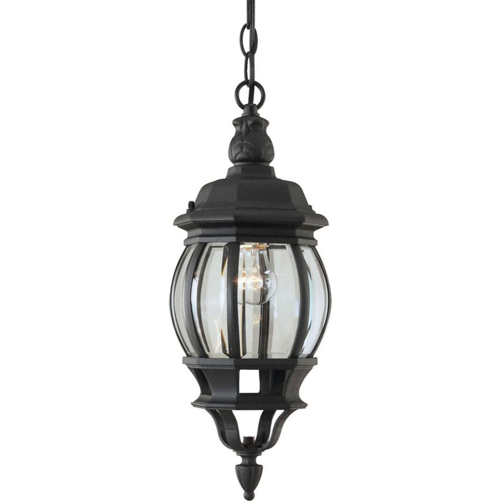 Filament Design Burton 1 Light Black Outdoor Incandescent