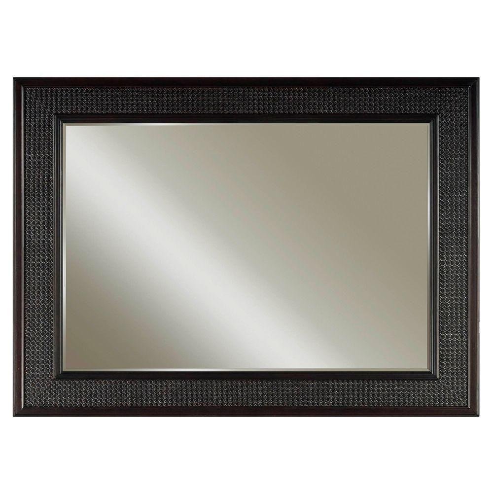 Water Creation London 36 Inches L x 60 Inches W Wall Mirror in Espresso Faucet not included
