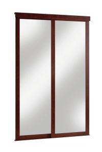 Veranda 48-inch Espresso Framed Mirrored Sliding Door ...
