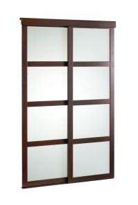 Veranda 48-inch Espresso Framed Frosted Sliding Door | The ...