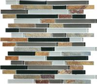 Sassi Cool Earth Linear Slate Glass | The Home Depot Canada