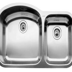 Stainless Steel Undermount Kitchen Sinks Aid Mixer Blanco Blancowave U 1 Double Bowl Sink
