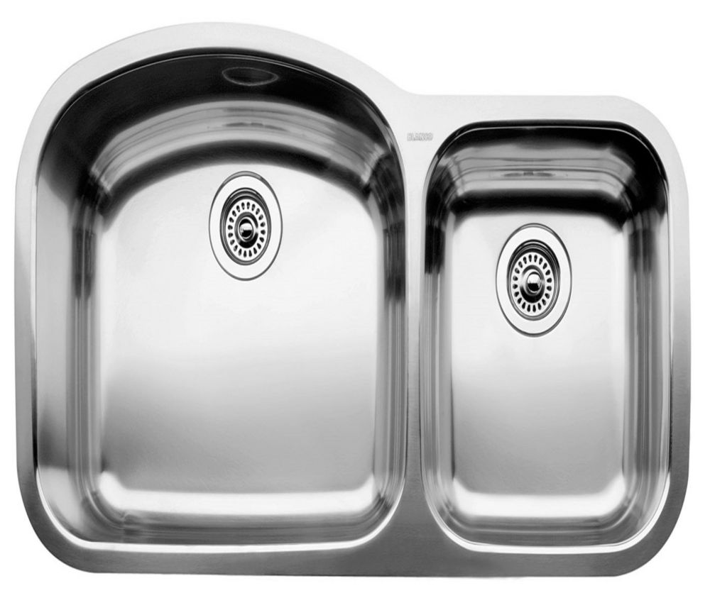 stainless steel undermount kitchen sinks amazon sink blanco blancowave u 1 double bowl