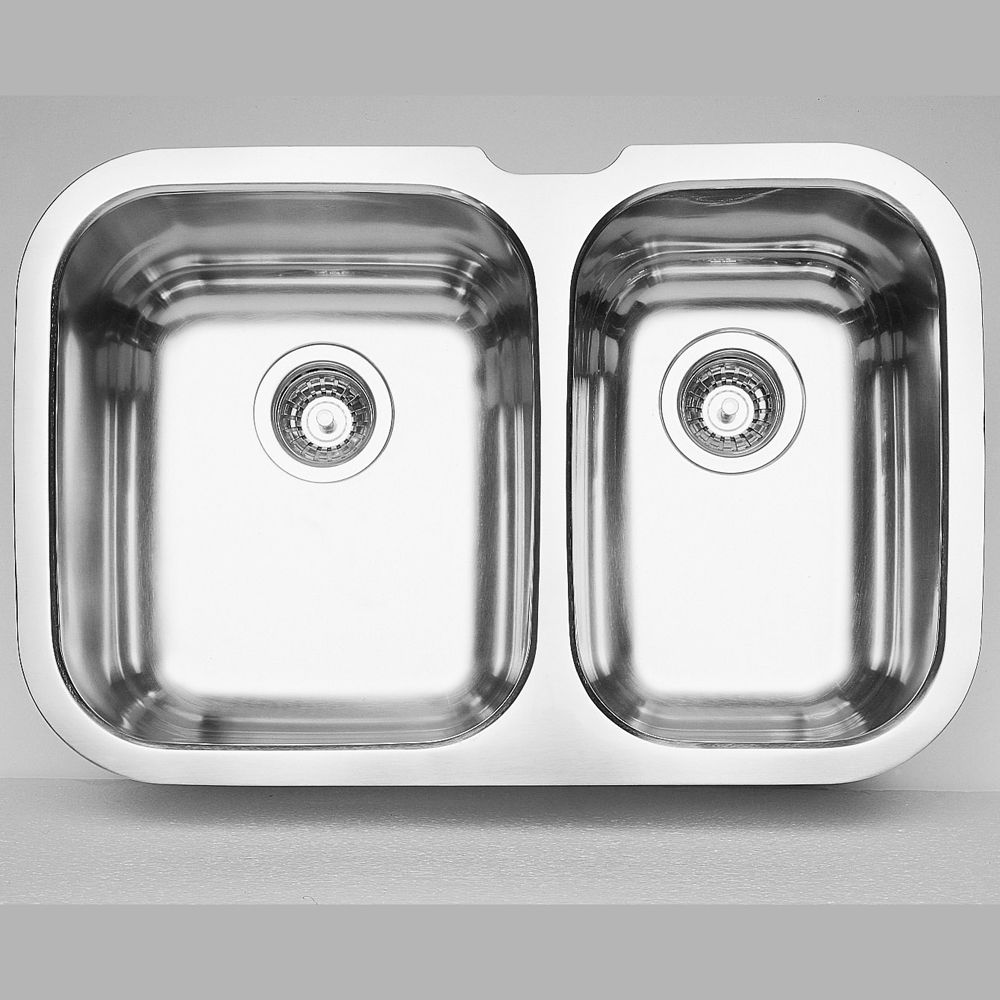 cheap kitchen sinks commercial floor coverings bar the home depot canada blanco niagara u 1 double bowl undermount