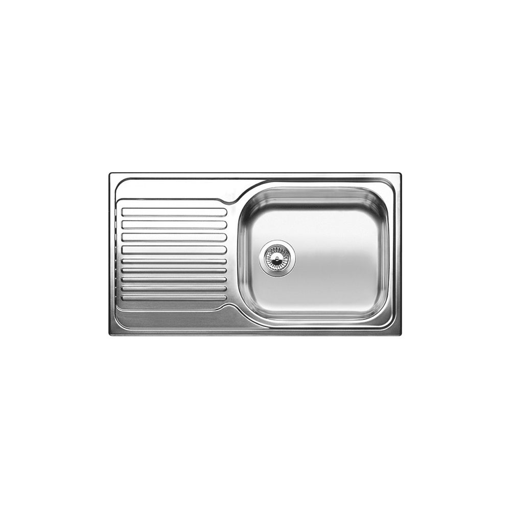 kitchen sinks with drain boards bimby robot blanco single bowl left hand drainboard top mount stainless steel sink the home depot canada