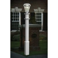 New England Arbors Sturbridge Lamp Post | The Home Depot ...