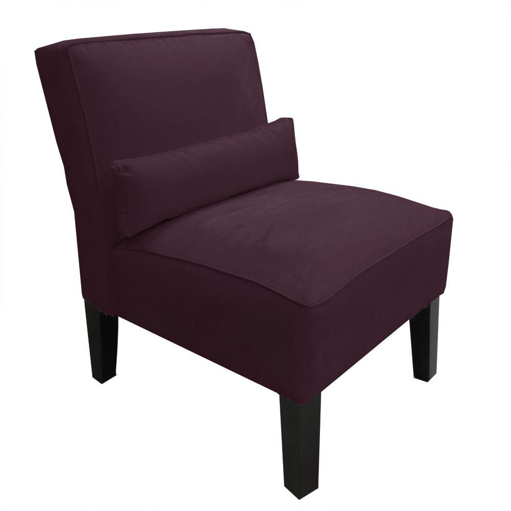 Skyline Furniture Armless Chair In Premier Microsuede
