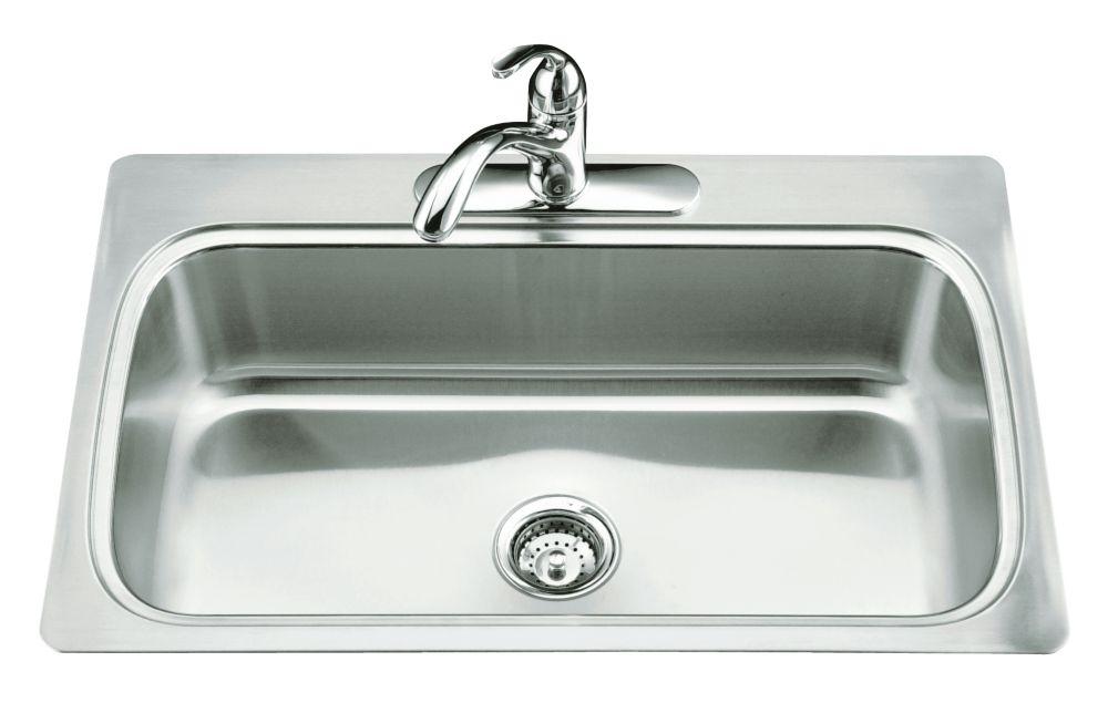 small kitchen sinks power grommet kohler undertone squared undercounter sink the home depot canada