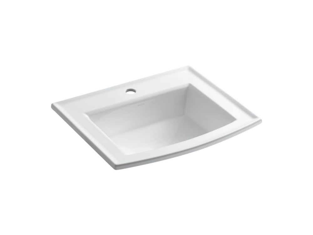GLACIER BAY Oval DropIn Bathroom Sink in White  The Home Depot Canada