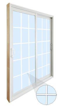 Stanley Doors Double Sliding Patio Door - 15 Lite Internal ...