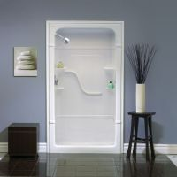 Melrose 5 Acrylic 1-piece Shower Stall With Seat, Centre ...