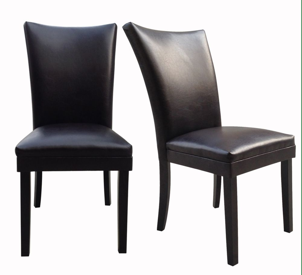 Dining Chair Dimensions Parsons Leather Dining Chair 2 Pack