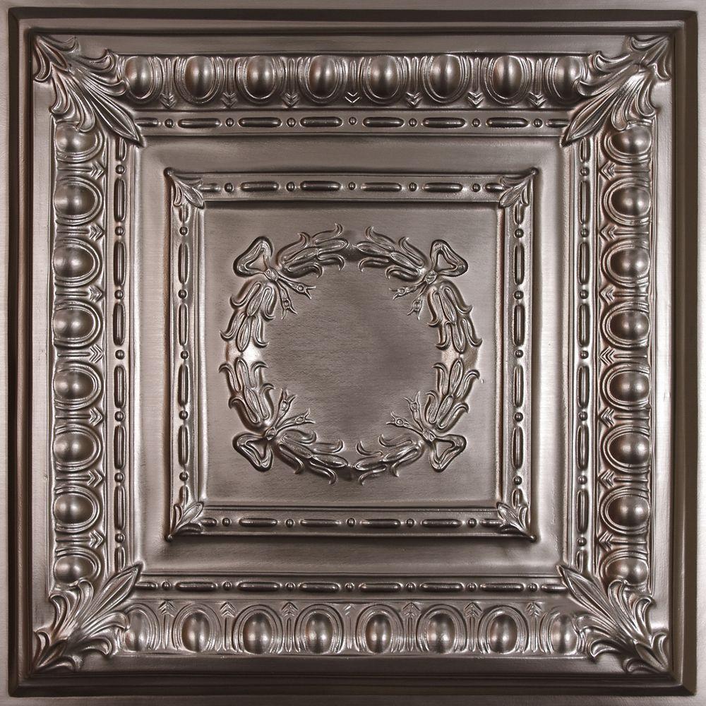 Ceilume Empire Faux Tin Ceiling Tile, 2 Feet X 2 Feet Lay