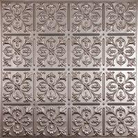 Ceilume Fleur-de-lis Faux Tin Ceiling Tile, 2 Feet x 2 ...