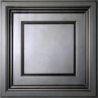 Ceilume Madison Black Coffered Ceiling Tile, 2 Feet x 2 ...