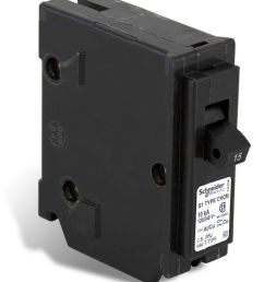 schneider electric homeline single pole 15 amp homeline plug on circuit breaker the home depot canada [ 859 x 1000 Pixel ]