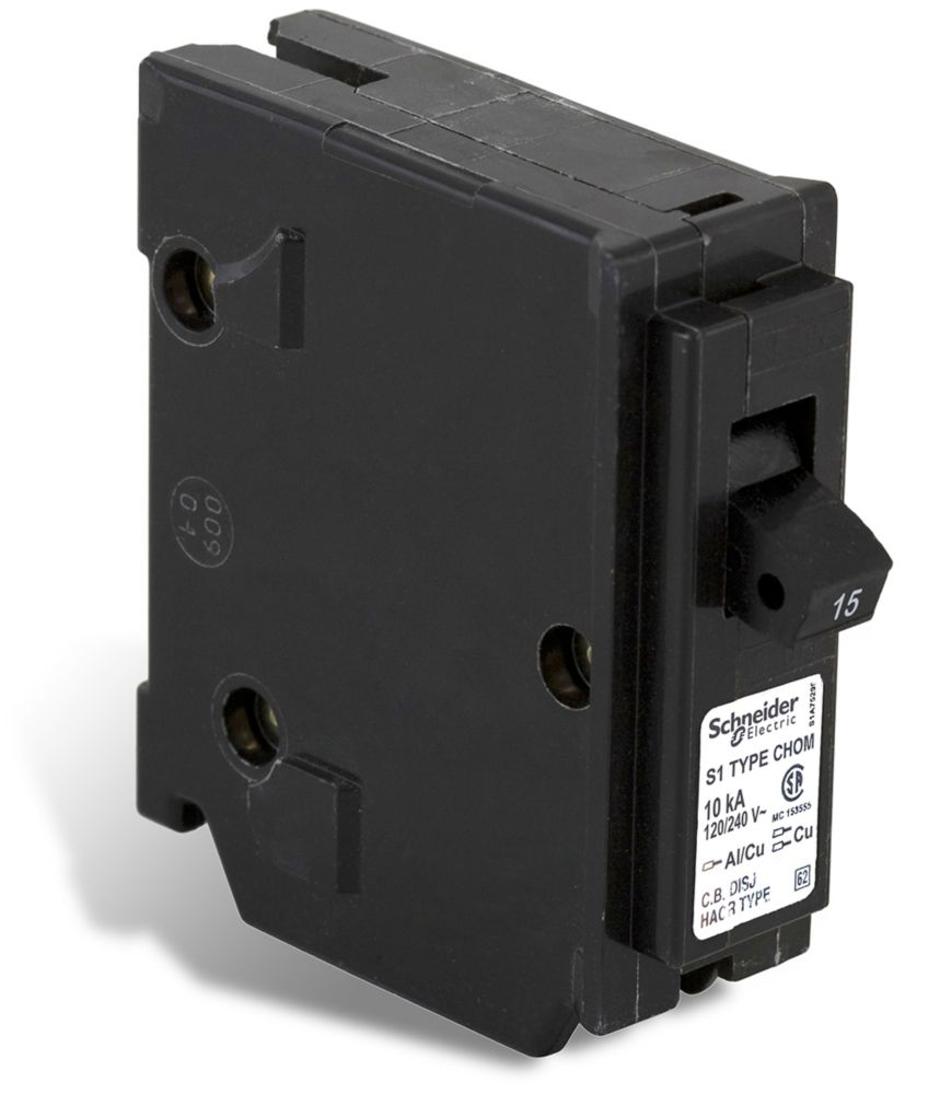 medium resolution of schneider electric homeline single pole 15 amp homeline plug on circuit breaker the home depot canada