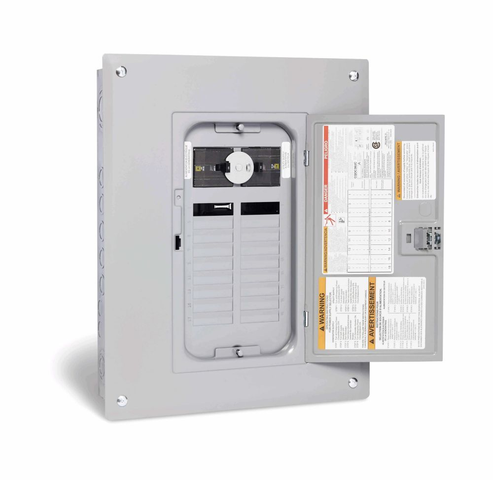 square d 60 amp generator panel with 18 spaces 36 circuits maximum the home depot canada [ 1000 x 974 Pixel ]