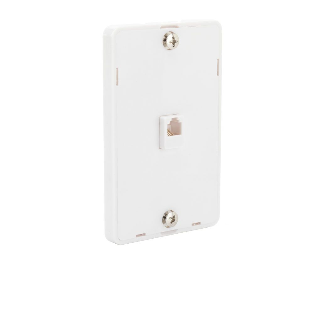 commercial electric telephone wall mount in white [ 1000 x 1000 Pixel ]